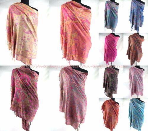 $5.45 each, bulk 20 pashmina scarves Wholesale women floral paisley retro
