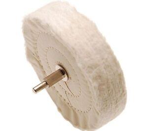 Polierscheibe Baumwolle 120 mm, Politur Scheibe mit 6 mm Spanndorn, Bohrmaschine
