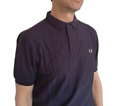 Fred Perry Drop-stitch Twin Tipped Polo Shirt, Carbon (Twin Tip Bead)