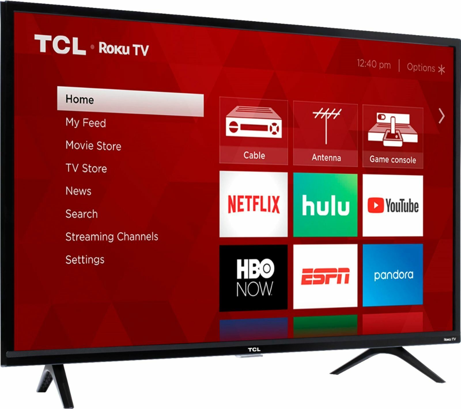 TCL 40 inch 1080p Class 3 Series LED Smart HDTV Roku TV Free