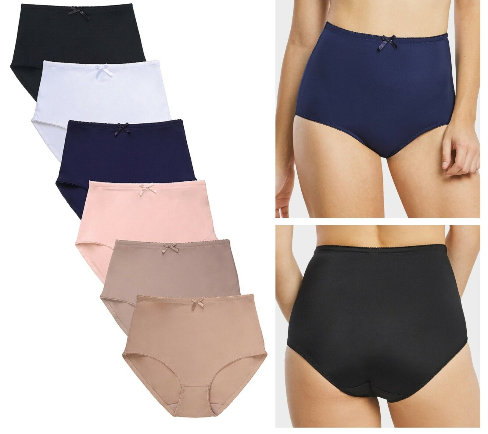 6 Women L XL 2X 3X Plus Size High Waist Tummy Slim Control Underwear Brief Panty Clothing, Shoes & Accessories