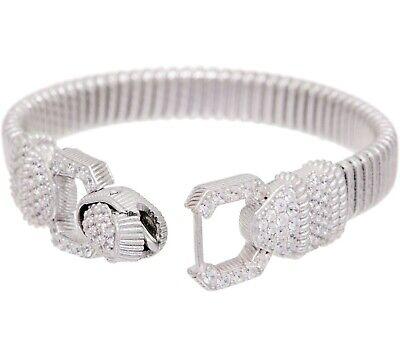 "Judith Ripka Verona Sterling Tubogas Bracelet 6-3/4"" QVC SOLD OUT $285"