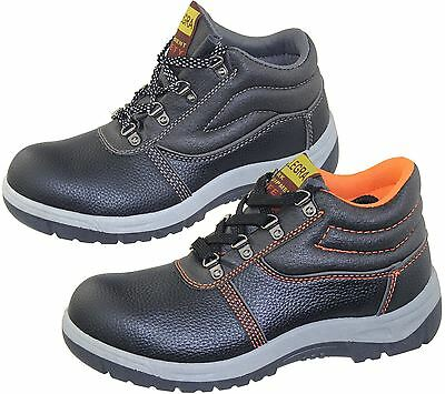 Mens Steel Toe Cap Work Boots Winter Combat Hiking High Top Ankle Shoes Size Mens Steel Toe Schuh