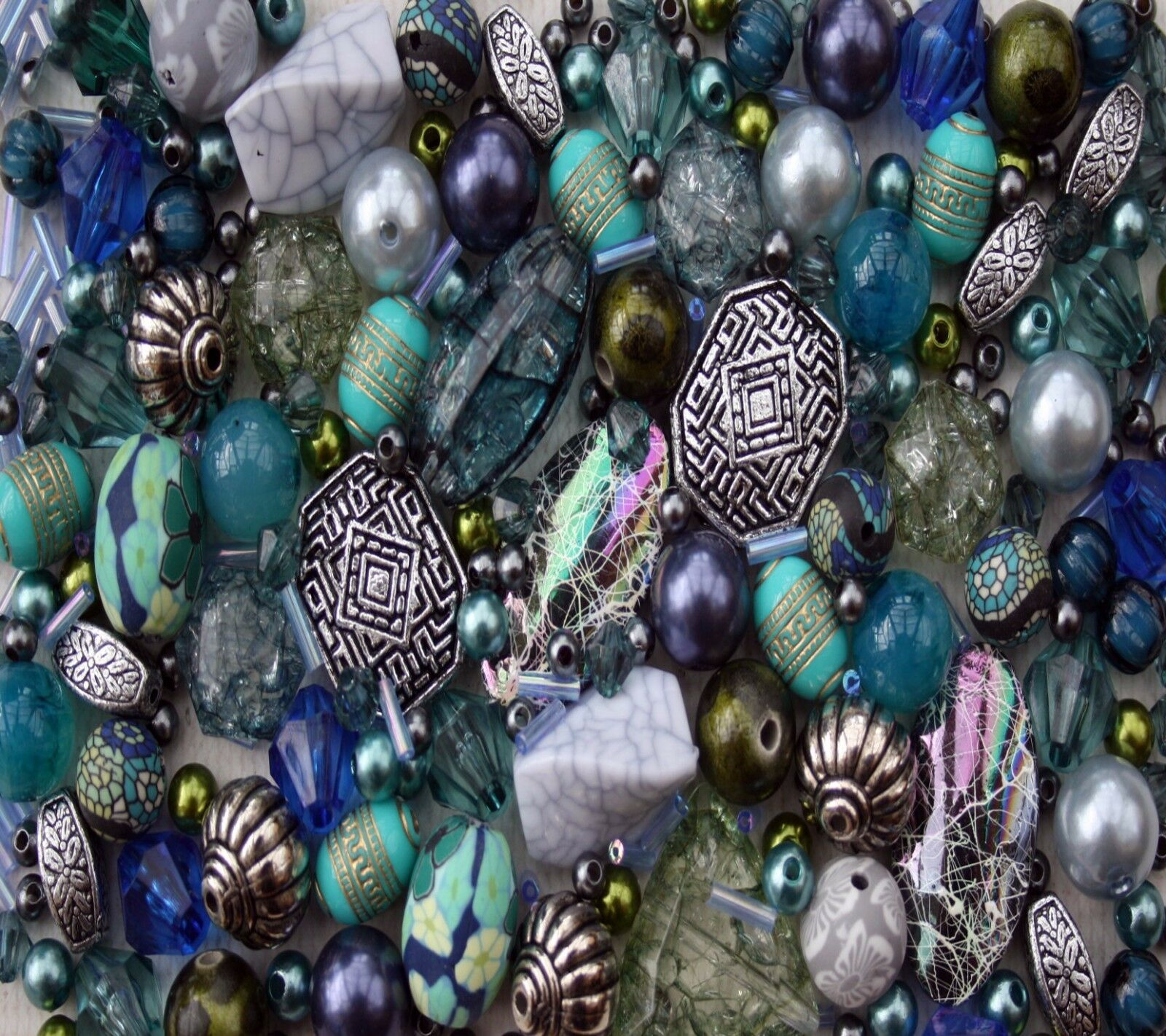 Blue Jewellery Making Beads