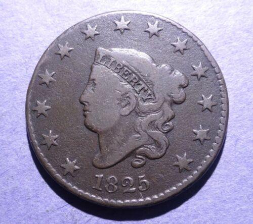 1825 Coronet Head Large Cent VG