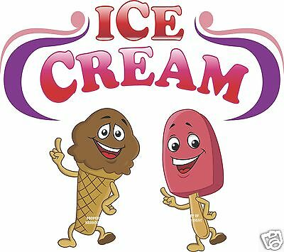 Ice Cream Bar Cone Decal 14 Concession Restaurant Food Truck Vinyl Sticker