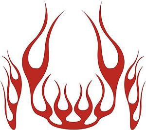 LARGE BONNET FLAMES KIT STICKER DECAL TO SUIT CAR, UTE, 4WD