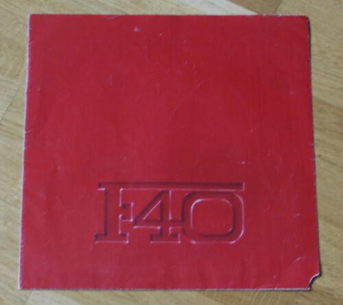 Ferrari F40 brochures