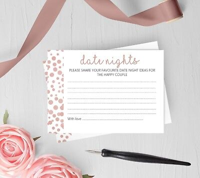 Date Night Ideas wedding Cards for Bride & Groom Rose Gold Effect - Wedding Card Ideas