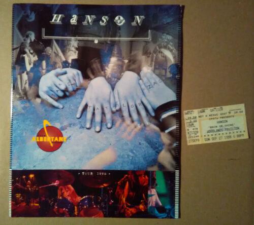 Book + Concert Ticket~ Boyband HANSON ~1998 Albertane Tour ~Isaac ~Taylor ~Zac