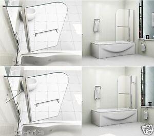 180 Pivot 6mm Glass Over Bath Screen Double Shower Screen Door