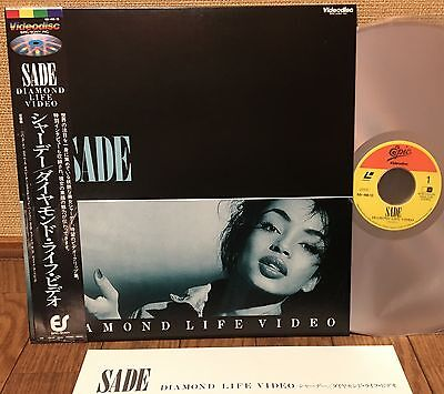 "SADE ""DIAMOND LIFE VIDEO"" LASERDISC JAPAN ISSUE  68.4M-13"