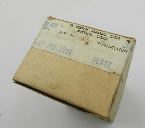 Unopened Box of 5 No. 4 Enfield Steel Butt Plates, Canadian Mfg. Long Branch
