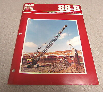 Bucyrus-erie 88-b Dragline Shovel Clamshell Crane Manual Brochure