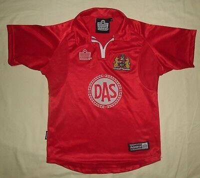 Bristol City FC/2001-2002 Home - ADMIRAL - VTG JUNIOR Jersey/Shirt. Size: MB image