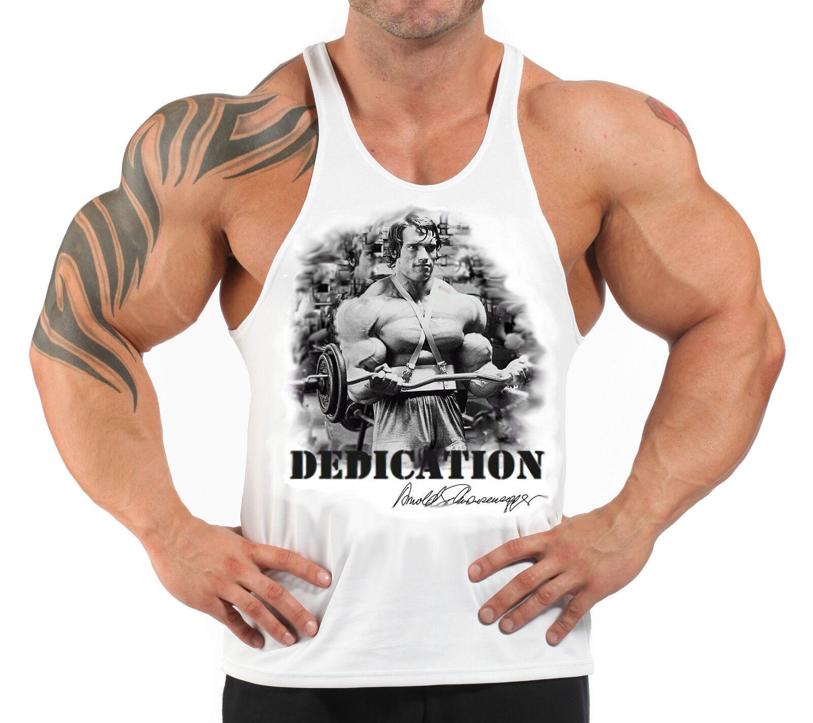 arnold schwarzenegger t back bodybuilding vest workout