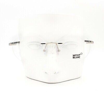 Montblanc MB 732 016 Men's Round Rimless Glasses Eyeglasses Silver (Round Frameless Glasses)