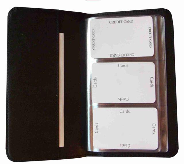 Visitenkartenmappe für 108 Visitenkarten schwarz 41006