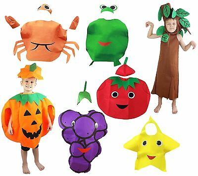 XMAS Halloween School Party Fruit Vegetables Unisex Kids Child Costume Clothing - Vegetable Costumes
