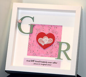 Personalised Traditional 2nd Cotton Wedding Anniversary