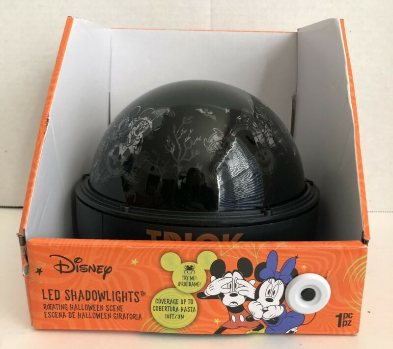 Disney 2021 Mickey And Friends Halloween LED Changing Shadowlights Projector