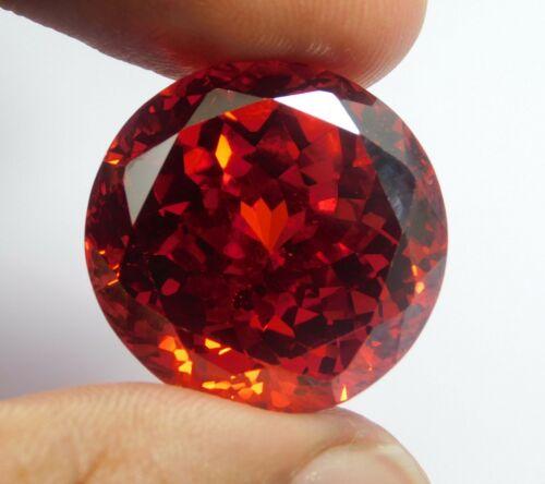 196.70Ct  Natural Translucent Round Cut Cambodian Red Zircon Loose Gemstone