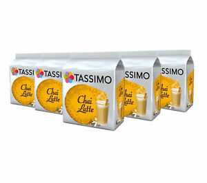 TASSIMO Chai Latte Tea Capsules Refills Pods T-Discs Pack of 5, 40 Drinks