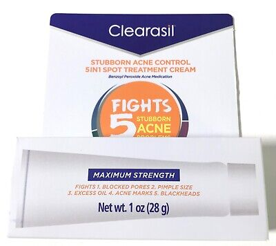 Clearasil Daily Clear Tinted Acne Treatment Cream 1.0oz Concealer Concealing