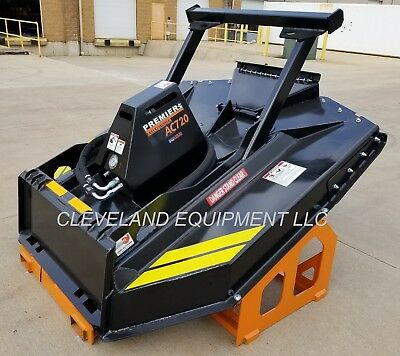 New 72 Ammbusher Ac720 Forestry Brush Cutter Mower - Skid Steer Loader Bush Hog