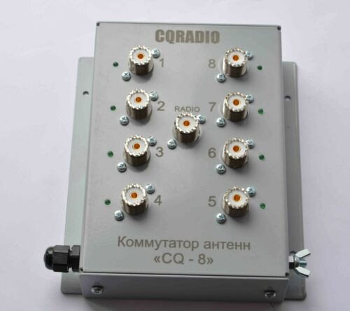 8 position antenna switch with SO-239 teflon, 2KW