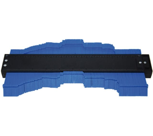 Contour gauge Template Key teaching 250 mm Wood Metal Laminate Pipes Tiles KFZ