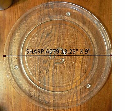 "13 1/4"" Sharp NTNT-A079WRE0 or NTNT-A084WRE0 Microwave Plate Tray Clean"