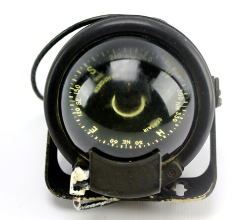 Vintage Danforth Corsair Liquid Domed Glass Nautical Compass