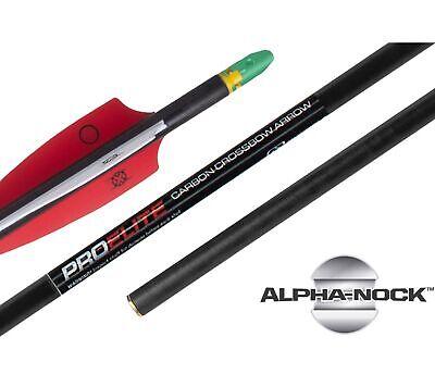 "TenPoint Pro Elite Alpha Nock 20"" Carbon Crossbow Arrow 6-PA"
