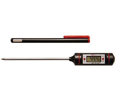 Digital Thermometer mit Edelstahl Sonde Temperaturmessung Temperaturprüfer BGS