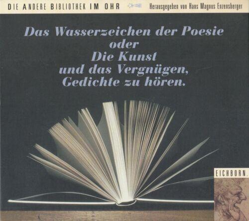 DAS WASSERZEICHEN DER POESIE ODER DIE KUNST UND DAS... / 2 CD-SET (HÖRBUCH)