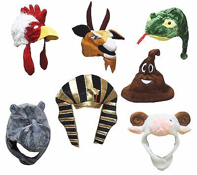 XMAS Halloween Party Animal Rooster Goat Sheep Snake Monkey Cow Warm Hat - Halloween Costume Party Animal