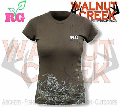 Realtree Girl Vines Design Short Sleeve Tee Shirt RG125BR (Brown) Girls Short Sleeve Tee