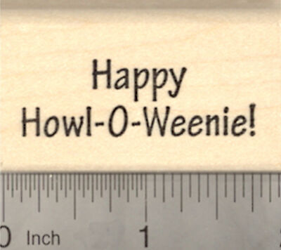 Happy Howl-o-weenie Halloween Rubber Stamp, Dachshund Dog Theme D22309 WM](Happy Halloween Dachshund)