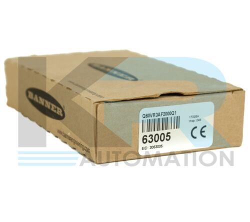 NEW Banner Q60VR3AF2000Q1 Q60 Series 2M Range Adjustable-Field Sensor