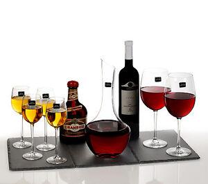 Royal-Worcester-Kwarx-Glass-Decanter-2-Wine-4-Liqueur-Glasses-Gift-Boxed-Set