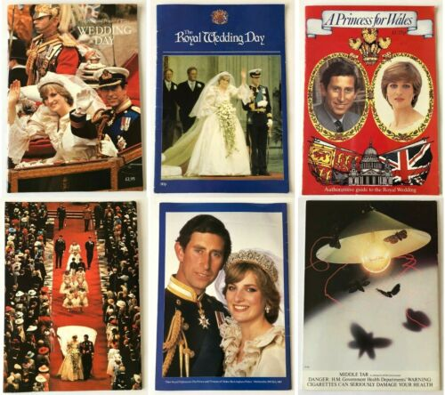 3 lot Wedding Day Of Prince Charles & Princess Diana Collectible Softcover