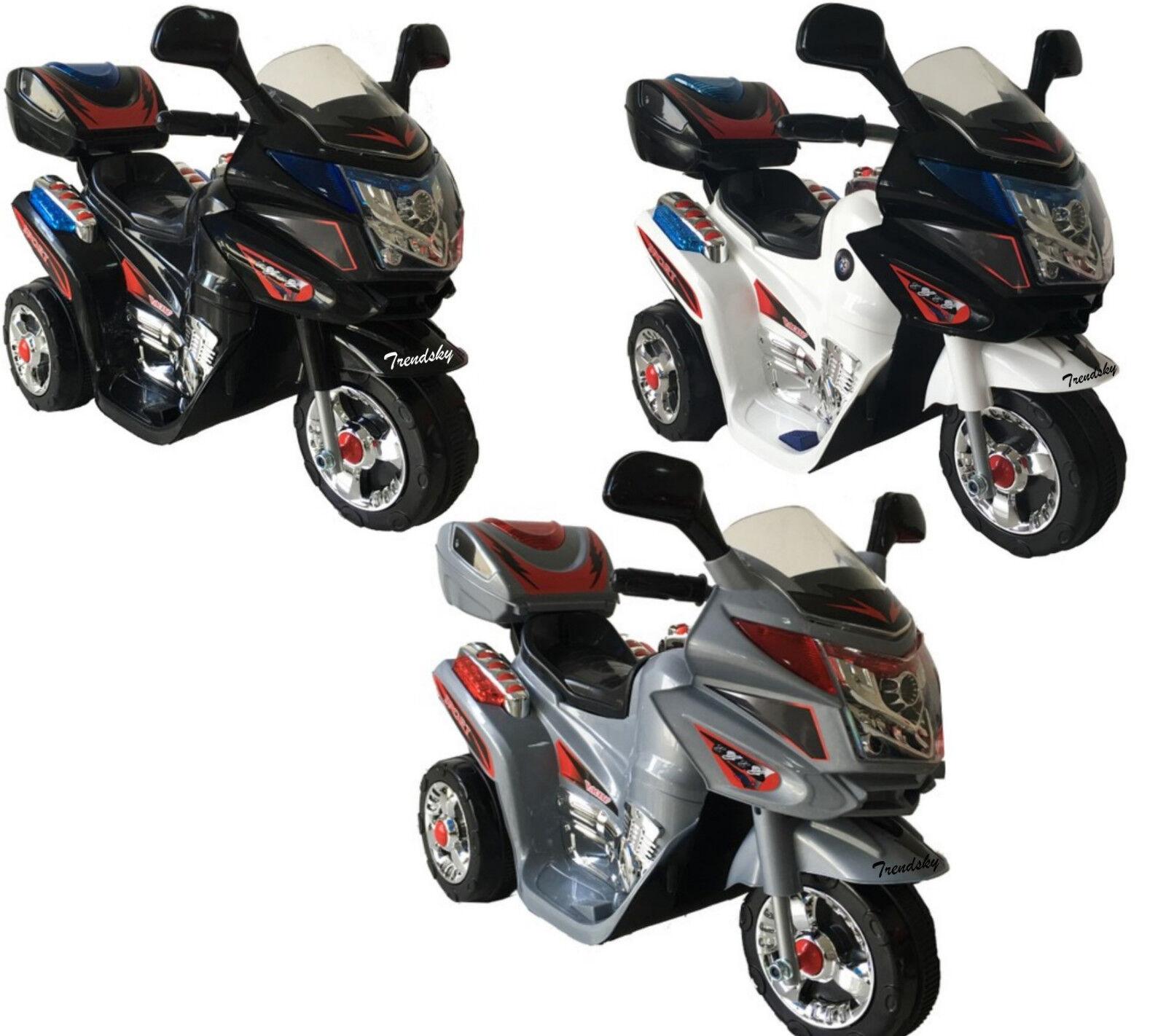 Polizei Kinder Elektro Motorrad Kindermotorrad Akku Elektromotorrad Fahrzeug NEU