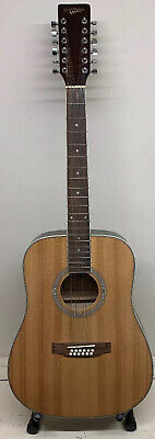 Countryman 12 String CGD-N-12ST Acoustic Guitar Natural Made in China - See Pics