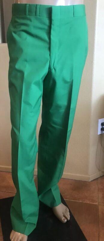 Vintage Mens Neiman Marcus Green Pants MOD Rare 36x34