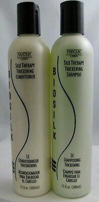 Biosilk Silk Therapy Thickening Shampoo + Conditioner Set 11.6 OZ each -