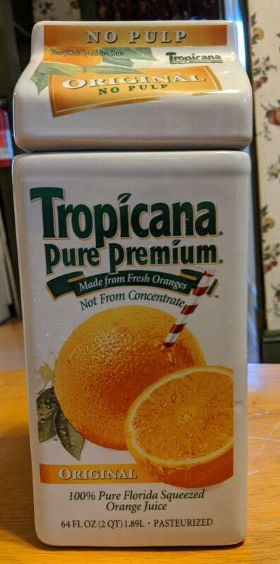 Tropicana Orange Juice Cookie Jar Canister Container Rare