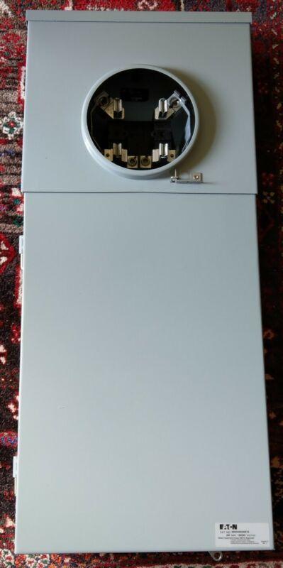 Eaton MB2040B200BTS 200 Amp Meter Socket Box 40 space Breaker Panel NEMA 3R
