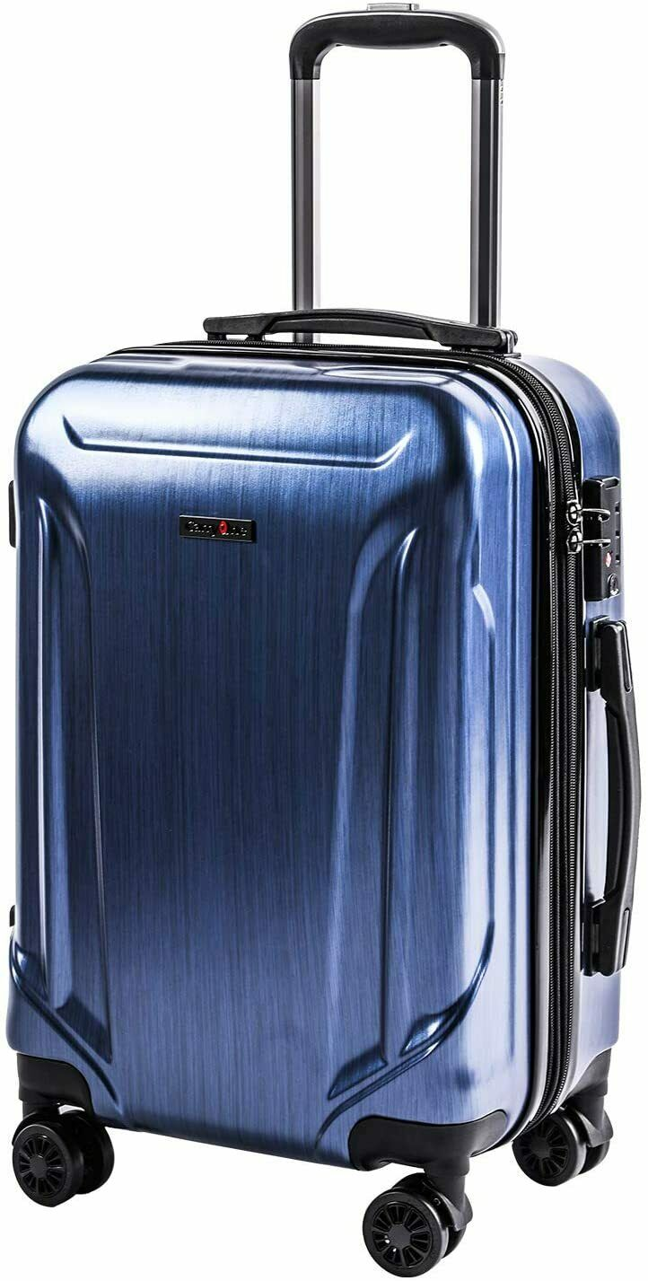 expandable luggage 20in pc abs carry on