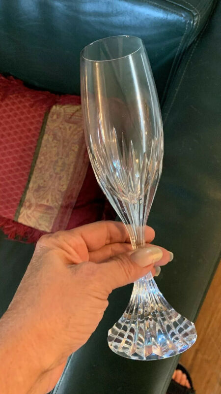 Baccarat Massena Crystal Champagne Flute...10 available...No box Never Used
